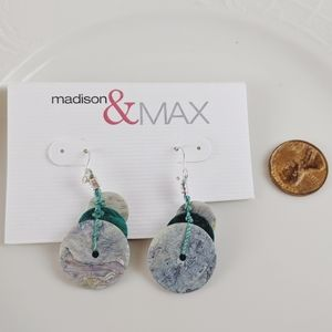 🖤3 for 25🖤Madison & Mac Teal Shell Earrings NWT